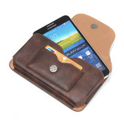 Man Genuine Leather Mobile Phone Cases Waist Bag Purse Card Phone Wallet
