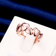Simple Luxury Ring Rose Gold Heart to Heart Ring for Women Gift