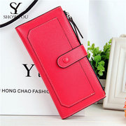 Women Elegant Long Candy Color Wallet Casual Cash Coins Cards Bags