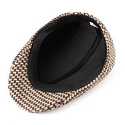Men's Autumn And Winter Casual Cotton Houndstooth Casual Beret Cap