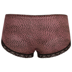 Sexy Leopard Printing Modal Mesh Soft Breathable Thin Panties For Women