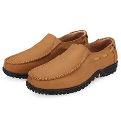 Large Size Men Shoes Genuine Leather Slip On Casual Shoes