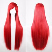 6 Colors 100cm Womens Long Anime Wigs Cosplay Party Straight Hair Full Wig