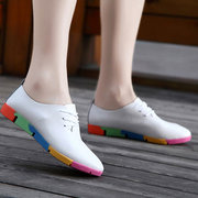 Fashionable Ladies Loafers Soft-Sole Lace Up Casual Shoes Comfortable Women Flat Shoes