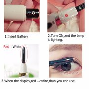 Portable Electric Heating Eyelash Curved Extension Brush Curler