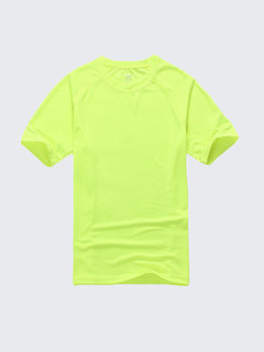 Mens Summer Outdoor Sports Top Tees Quick Dry Breathable Solid Color Tshirts