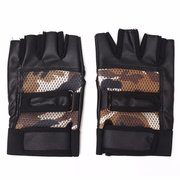 Leather Weightlifting Gloves Straps Wrist Support Wraps Cycling Exercise Training Gloves