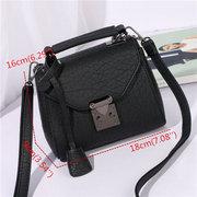 Women Ladies PU Leather Shoulder Bag Casual Tote Handbag
