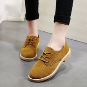 Women British Style Retro Lace Up Flat Causal Shoes