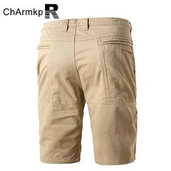 ChArmkpR Casual Cotton Cargo Pants Solid Color Loose Plus Size Shorts For Men