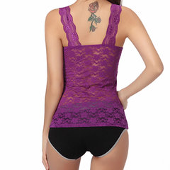 Sexy Deep V Lace Elastic Vest Embroidery Tank Tops For Women