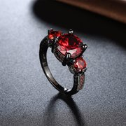 Simple Women Ring Luxury Copper Zircon Ring