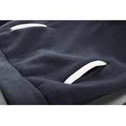 Mens Hoodies Stitching Color Fashion Casual Sport Hooded Tops