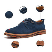 Big Size Men Leather Metal British Style Lace Up Flat Oxford Shoes