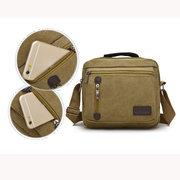 Multifunctional Men Retro Canvas Crossbody Bag Casual Shoulder Bag