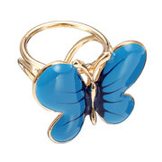 Alloy Enamel Butterfly Shaped Scarf Buckle Brooch