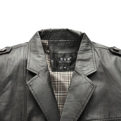 Casual Business Plaid Thin Suit Multi-Pockets Epaulet Turn-Down Collar Coat For Men