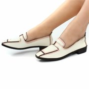 Mesh Dress Vintage Pointed Toe Leather British Style Formal Shoes For Women