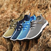 Men Mesh Breathable Lace Up Casual Outdoor Sport Hiking Shoes