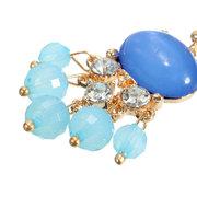 Ethnic Style Jewelry Crystal Tassel Beads Drop Earrings