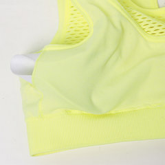 Sexy Seamless Shockproof Breathable Sports Bras Mesh Wireless Running Bra