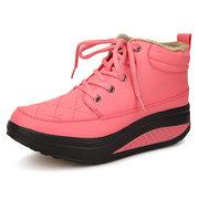 Женщины Повседневная кроссовки сохранить тепло Встряхните обувь Сапоги платформы