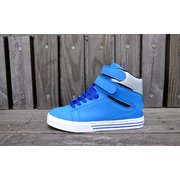 Men Pu British Style Casual Lace Up Hook Loop High Top Sport Shoes