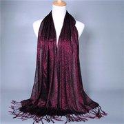 Women Lady Long Tassel Chiffon Neck Scarf Scarves Wrap Soft Stole Shawl