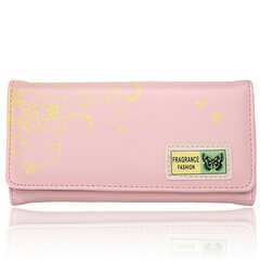 Women Butterfly  Print Long Leather Wallet