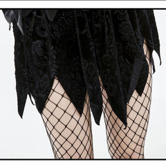 Halloween Sexy Black Feathers Wing Angel Costumes Demoness Cosplay Dress For Women