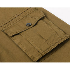 Mens Cargo Pants Tactical Training Solid Color Regular Fit Outdoor Spring Fall Trouser