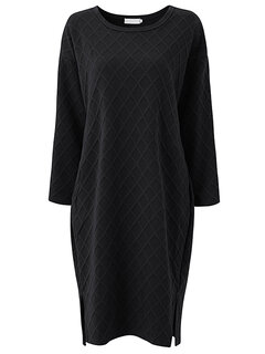 O-Newe Casual Pure Color Long Sleeve Side Split Cotton Dress For Women