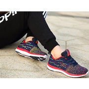 DELOCRD Big Size Men Women Lover Color Match Breathable Lace Up Outdoor Sport Running Sneakers