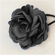 Women Hair Band Rope Elastic Rose Flower Ponytail Holder Scrunchie Accessories
