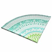 Round Green Beach Towel Shawl Yoga Mat Tapestry Wall Hanging Decor