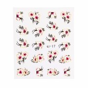 8 Styles Colorful Flower Skull Rabbit Design Nail Sticker Decal Water Transfer