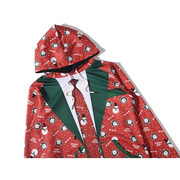 Christmas Theme Funny Suit Printing Front Pocket Casual Sport Hoodies