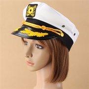 Men Women Sailor Captain Yacht Adjustable Snapback Cap Boat Party Hat