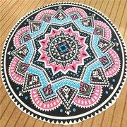 Круглый Геометрия печати пляжное полотенце хлопок шарф шаль Йога Мат Гобелен Гобелен