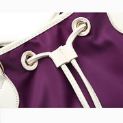 Women Nylon Waterproof Bucket Draw String Crossbody Bags Shoulder Bags