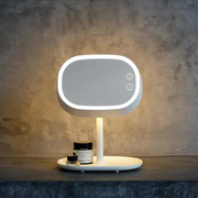 USB Rechargeable Cosmetic Mirror With LED Lamp Table Lamp Light Bedroom Makeup Mirrors
