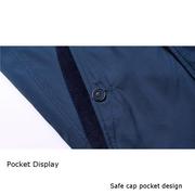 Свободный бизнес Личность стенд воротник с застежкой-молнией Slim Fit Куртка для мужчин