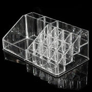 3 Drawers Clear Acrylic Makeup Storage Jewelry Facial Cream Case Nail Polish Display