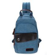 Men Canvas Outdoor Backpack Durable Large Capacity Casual Shoulder Bag