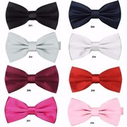 Men Gentleman Pure Color Bow Tie Bridegroom Dress Bow Tie
