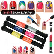 3Pcs 6 Colors Nail Art Polish Nail Pen Brush Gel Double End Design Drawing Painting Tool