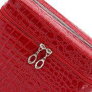Crocodile Pattern Makeup Bag Beauty Nail Decoration Storage Square Case 4 Colors