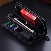 Men Business Retro PU Leather Embossing Wallet Card Holders Purses