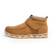 Hook Loop Sport Letter Fur Lining Ankle Boots For Men