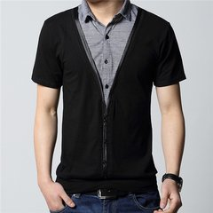 Summer Men's POlO Short Sleeve Shirts Casual Slim Lapel Cotton T-Shirts Tops Plus Size 5XL